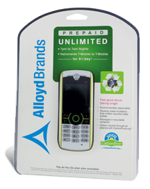 alloyd mobile phone packaging