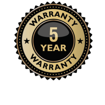 Five year warranty seal